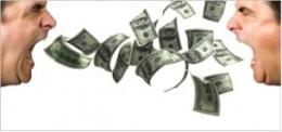 shouting money