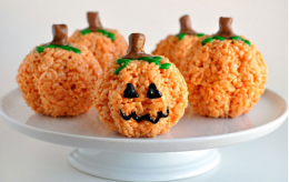 Rice crispie pumpkin