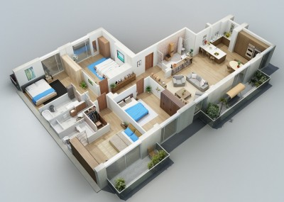 one-floor-house-design-plans-apartment-designs-shown-with-rendered-3d-floor-plans-image