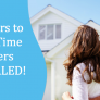 Barriers To First Time Buyers Revealed