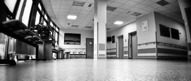 hospital-symmetry-artistic-look-black-white-interior-hall-oncology-floor-47699732