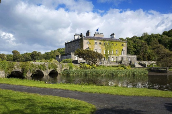 PIC BY FENNELL PHOTOGRAPHY / CATERS NEWS - (PICTURED: Westport House) - Ever fancied owning a theme park in your back garden? For 10 million Euros you can buy one of Irelands most historic homes and all that comes with its 455 acres. Incredible tourism hotspot, Westport House in Westport, County Mayo is up for sale for an ambitious buyer with a love for the great outdoors. The beautiful ten bedroom home steeped in history is as staggering inside as it is out with most of the interior dating back to 1778. The Carrowbeg River, a lake and breathtaking views of Clew Bay and Croagh Patrick are not the only outstanding features in the acres of parkland. SEE CARERS COPY.