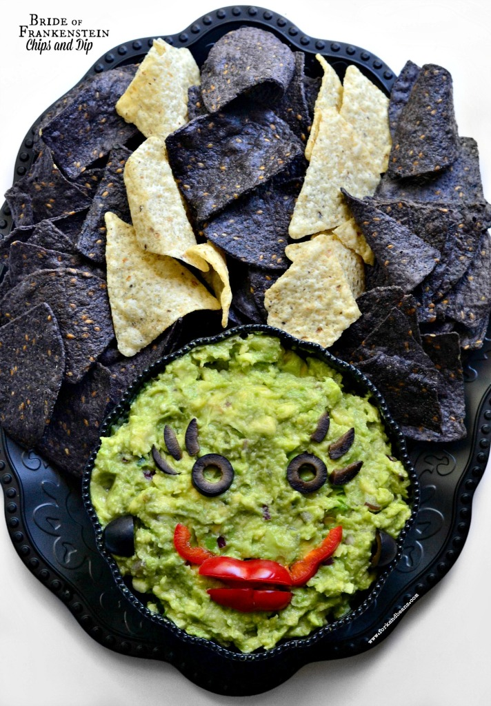 Bride-of-Frankenstein-Dip Halloween recipes for Vegan, Veggie and gluten-free