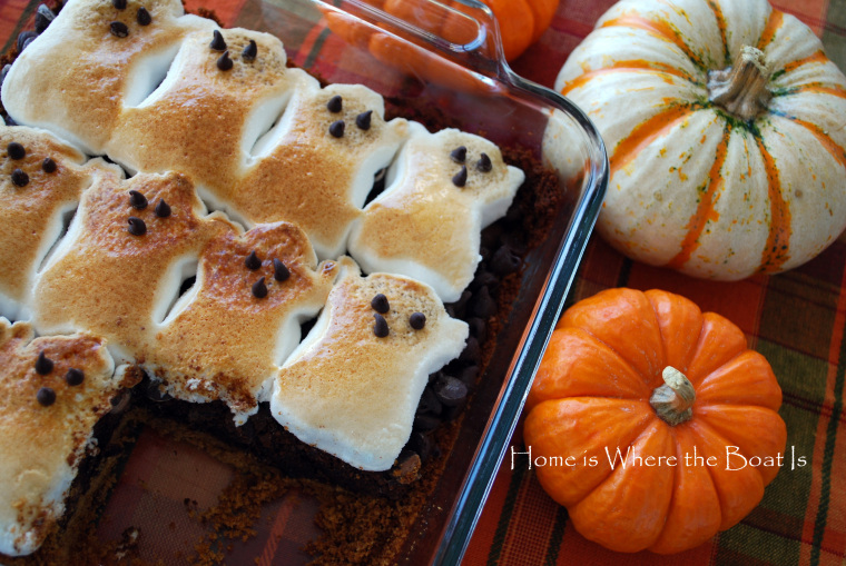 Ghost-Brownie-Smores Halloween recipes for Vegan, Veggie and gluten-free
